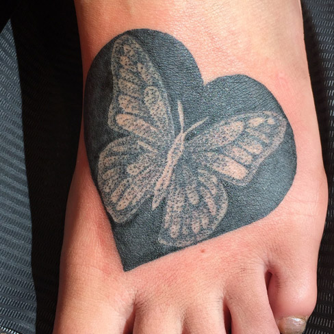 butterfly foor dotwork tattoo colchester reds tattoo