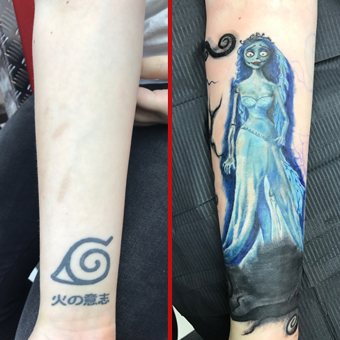 corpse bride tattoo cover up reds colchester essex