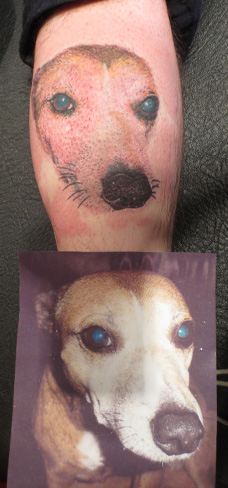 dog portrait tattoo realism colour realistic