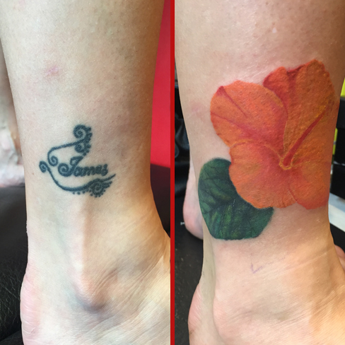Tattoo, Best Tattoo, Colchester, Essex, Tattoo art, Tattoo Artist, Tattoos, Tattoo design, Top Tattoo, cover up Tattoo, reds tattoo, sonya trusty, essex tattoo, colchester, tattoo ideas, cover up, before and after, flower, flower tattoo, colour realism