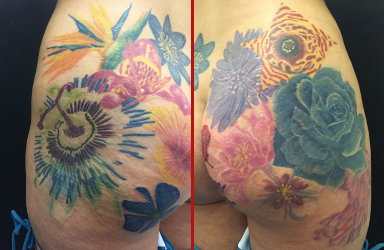 bum tattoo realism flowers realistic butt cheryl cole