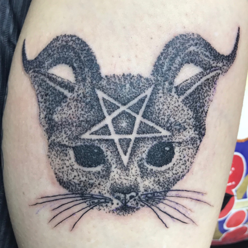 Tattoo, Best Tattoo, Colchester, Essex, Tattoo art, Tattoo Artist, Tattoos, Tattoo design, Top Tattoo, Black & grey Tattoo, reds tattoo, sonya trusty, essex tattoo, colchester, realism tattoo, kitten, kitten tattoo, cat, cat tattoo, devil, dotwork, dotwork tattoo