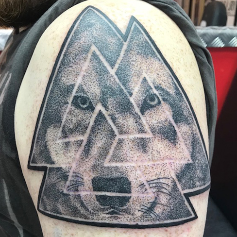 Tattoo, Best Tattoo, Colchester, Essex, Tattoo art, Tattoo Artist, Tattoos, Tattoo design, Top Tattoo, Black & grey Tattoo, reds tattoo, sonya trusty, essex tattoo, colchester, realism tattoo, wolf, wolf tattoo, viking, viking tattoo, geometric, geometric tattoo
