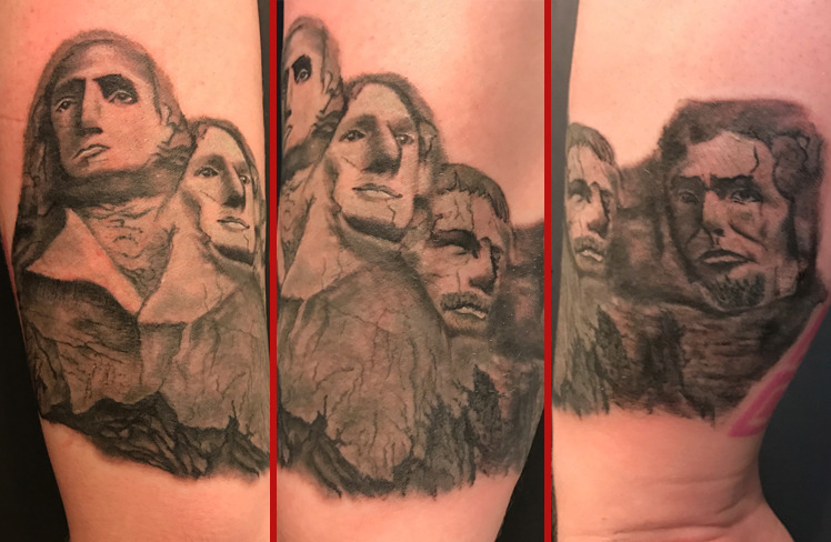 Tattoo, Best Tattoo, Colchester, Essex, Tattoo art, Tattoo Artist, Tattoos, Tattoo design, Top Tattoo, Black & grey Tattoo, reds tattoo, sonya trusty, essex tattoo, colchester, realism tattoo, tattoo ideas, mount rushmore, mouth rushmore tattoo, america, american tattoo
