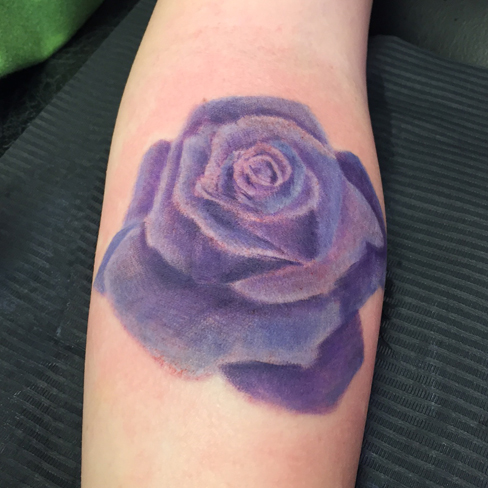 purple rose tattoo reds colchester essex colour