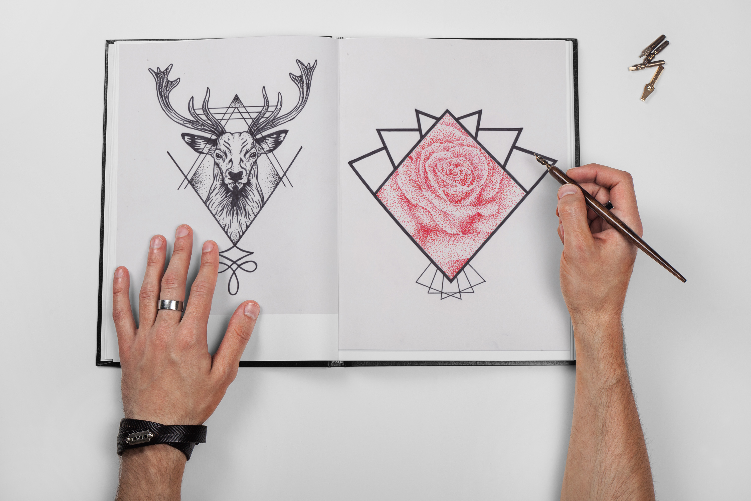 geometric tattoo drawing tattoo reds colchester