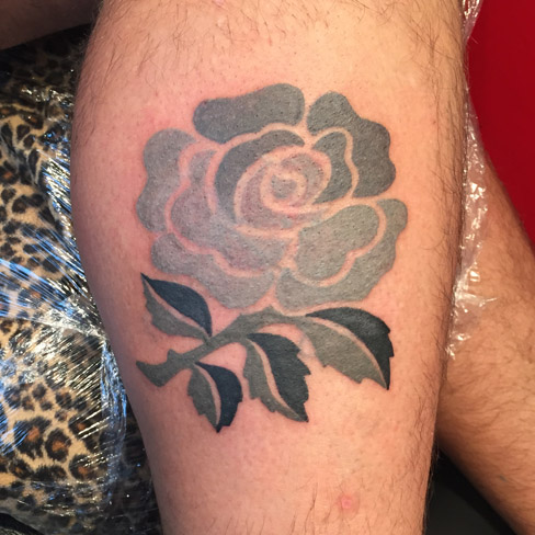 rugby rose tattoo colchester reds tattoo