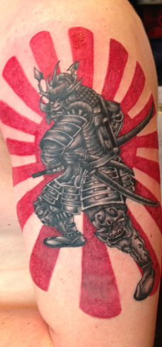 samurai japanese tattoo sun