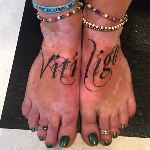Tattoo, Best Tattoo, Colchester, Essex, Tattoo art, Tattoo Artist, Tattoos, Tattoo design, Top Tattoo, Black & grey Tattoo, reds tattoo, sonya trusty, essex tattoo, colchester, realism tattoo, tattoo ideas, vitiligo, vitiligo tattoo, foot tattoo, foot, chicano script, script, writing tattoo