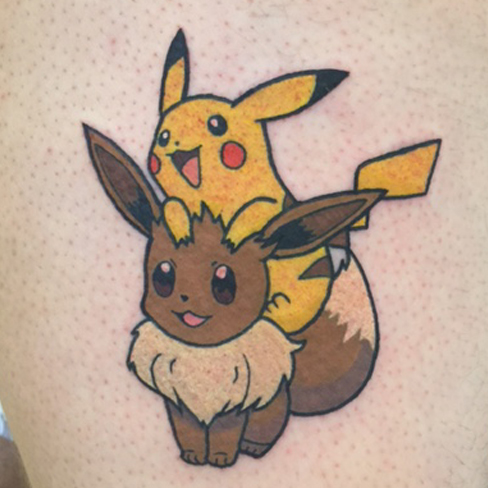 Tattoo, Best Tattoo, Colchester, Essex, Tattoo art, Tattoo Artist, Tattoos, Tattoo design, Top Tattoo, reds tattoo, anna kowacka, essex tattoo, colchester, tattoo ideas, colour, colour tattoo, pokemon, pokemon tattoo, eevee, pikachu, eevee tattoo, pikachu tattoo