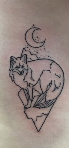 Tattoo, Best Tattoo, Colchester, Essex, Tattoo art, Tattoo Artist, Tattoos, Tattoo design, Top Tattoo, reds tattoo, anna kowacka, essex tattoo, colchester, tattoo ideas, linework, linework tattoo, outline, outline tattoo, fox, fox tattoo, moon, moon tattoo