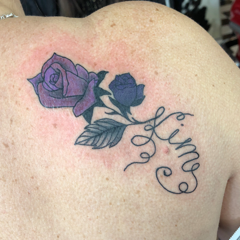 Tattoo, Best Tattoo, Colchester, Essex, Tattoo art, Tattoo Artist, Tattoos, Tattoo design, Top Tattoo, reds tattoo, anna kowacka, essex tattoo, colchester, tattoo ideas, rose, roses, rose tattoo, flower, flower tattoo, floral, floral tattoo, lettering, writing