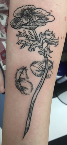 Tattoo, Best Tattoo, Colchester, Essex, Tattoo art, Tattoo Artist, Tattoos, Tattoo design, Top Tattoo, reds tattoo, anna kowacka, essex tattoo, colchester, tattoo ideas, linework, linework tattoo, outline, outline tattoo, feather, feather tattoo, flower, flower tattoo