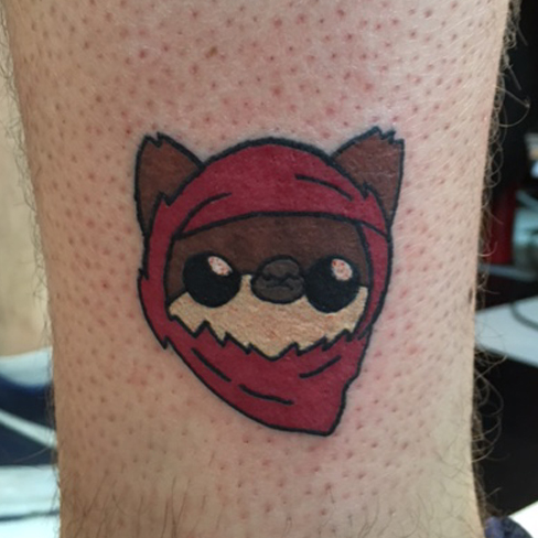 Tattoo, Best Tattoo, Colchester, Essex, Tattoo art, Tattoo Artist, Tattoos, Tattoo design, Top Tattoo, reds tattoo, anna kowacka, essex tattoo, colchester, tattoo ideas, colour, colour tattoo, ewok, ewok tattoo, star wars, star wars tattoo, cute