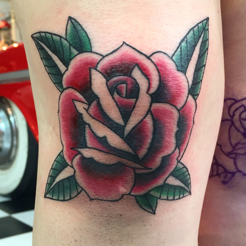 Tattoo, Best Tattoo, Colchester, Essex, Tattoo art, Tattoo Artist, Tattoos, Tattoo design, Top Tattoo, reds tattoo, anna kowacka, essex tattoo, colchester, tattoo ideas, colour, colour tattoo, traditional rose, traditional tattoo, old school, old school rose, old school tattoo