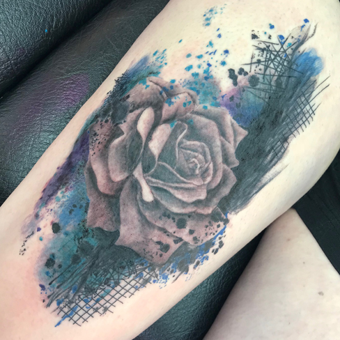 watercolour tattoo sonya trusty colchester reds tattoo essex