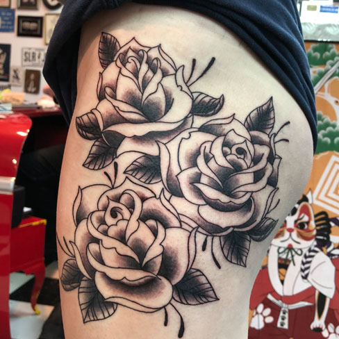 Tattoo, Best Tattoo, Colchester, Essex, Tattoo art, Tattoo Artist, Tattoos, Tattoo design, Top Tattoo, reds tattoo, anna kowacka, essex tattoo, colchester, tattoo ideas, rose, roses, rose tattoo, flower, flower tattoo, floral, floral tattoo, old school, old school tattoo, traditional tattoo