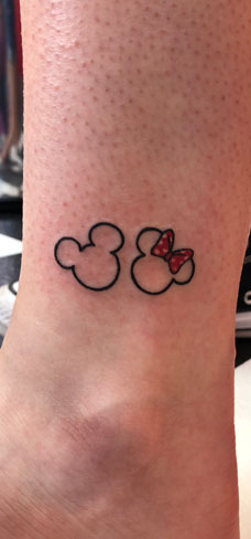 Tattoo, Best Tattoo, Colchester, Essex, Tattoo art, Tattoo Artist, Tattoos, Tattoo design, Top Tattoo, reds tattoo, anna kowacka, essex tattoo, colchester, tattoo ideas, linework, linework tattoo, outline, outline tattoo, mickey mouse, minnie mouse, Disney, disney tattoo, mickey and minnie tattoo
