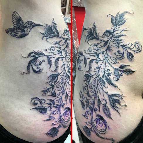 Tattoo, Best Tattoo, Colchester, Essex, Tattoo art, Tattoo Artist, Tattoos, Tattoo design, Top Tattoo, Black & grey Tattoo, reds tattoo, sonya trusty, essex tattoo, colchester, realism tattoo, ribs, ribs tattoo, hip tattoo, floral tattoo, floral, feminine, feminine tattoo