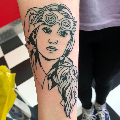 Tattoo, Best Tattoo, Colchester, Essex, Tattoo art, Tattoo Artist, Tattoos, Tattoo design, Top Tattoo, reds tattoo, anna kowacka, essex tattoo, colchester, tattoo ideas, linework, linework tattoo, outline, outline tattoo, harry potter, harry potter tattoo, luna lovegood