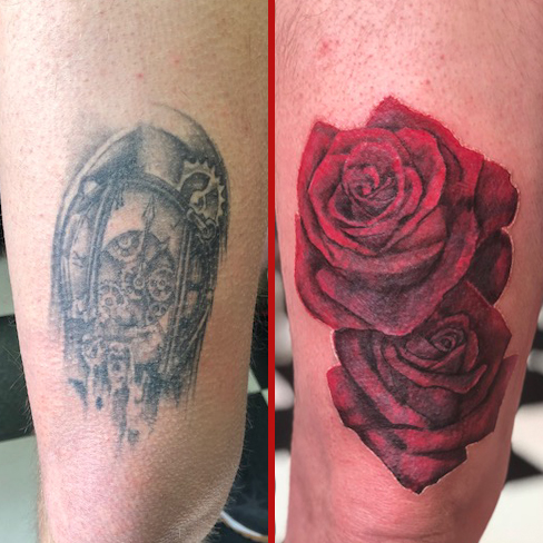 reds roses cover up tattoo reds colchester essex