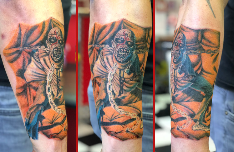 eddie iron maiden tattoo reds colchester essex colour sonya trusty