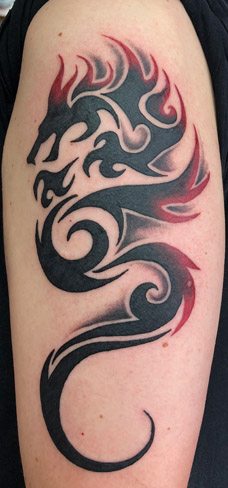 Tattoo, Best Tattoo, Colchester, Essex, Tattoo art, Tattoo Artist, Tattoos, Tattoo design, Top Tattoo, reds tattoo, anna kowacka, essex tattoo, colchester, tattoo ideas, tribal, tribal tattoo, tribal dragon, dragon tattoo, red ink