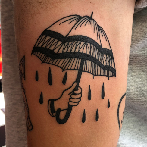 Tattoo, Best Tattoo, Colchester, Essex, Tattoo art, Tattoo Artist, Tattoos, Tattoo design, Top Tattoo, reds tattoo, anna kowacka, essex tattoo, colchester, tattoo ideas, linework, linework tattoo, outline, outline tattoo, umbrella, umbrella tattoo, rain tattoo