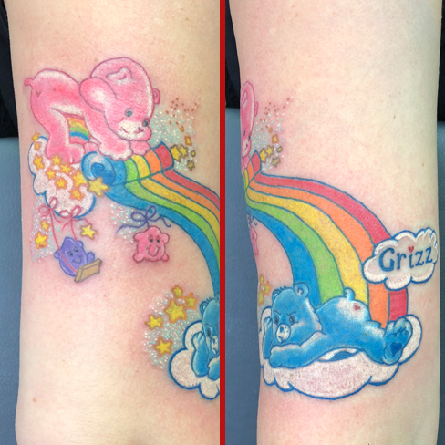 care bears kawaii cute girly tattoo reds colchester essex colour sonya trusty