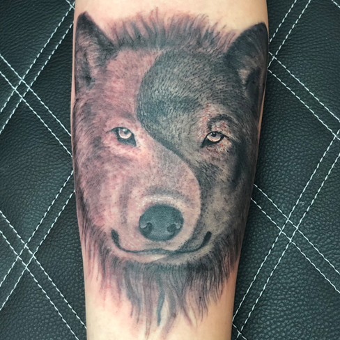 Tattoo, Best Tattoo, Colchester, Essex, Tattoo art, Tattoo Artist, Tattoos, Tattoo design, Top Tattoo, Black & grey Tattoo, reds tattoo, sonya trusty, essex tattoo, colchester, realism tattoo, tattoo ideas, yin and yang, wolf, wolf tattoo, good and bad