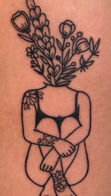 Tattoo, Best Tattoo, Colchester, Essex, Tattoo art, Tattoo Artist, Tattoos, Tattoo design, Top Tattoo, reds tattoo, anna kowacka, essex tattoo, colchester, tattoo ideas, linework, linework tattoo, outline, outline tattoo, flowers, flower tattoo, floral, lady tattoo