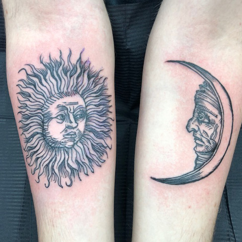 Tattoo, Best Tattoo, Colchester, Essex, Tattoo art, Tattoo Artist, Tattoos, Tattoo design, Top Tattoo, Black & grey Tattoo, reds tattoo, sonya trusty, essex tattoo, colchester, realism tattoo, tattoo ideas, moon and sun, moon tattoo, sun tattoo