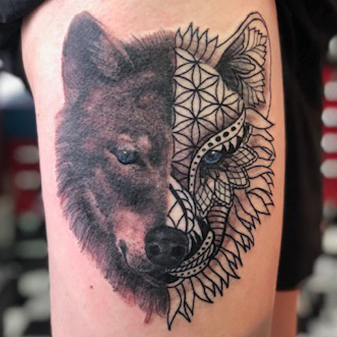 Tattoo, Best Tattoo, Colchester, Essex, Tattoo art, Tattoo Artist, Tattoos, Tattoo design, Top Tattoo, Black & grey Tattoo, reds tattoo, sonya trusty, essex tattoo, colchester, realism tattoo, tattoo ideas, mandala, mandala tattoo, geometric, geometric tattoo, dotwork, wolf, wolf tattoo