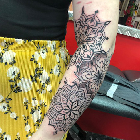Tattoo, Best Tattoo, Colchester, Essex, Tattoo art, Tattoo Artist, Tattoos, Tattoo design, Top Tattoo, Black & grey Tattoo, reds tattoo, sonya trusty, essex tattoo, colchester, realism tattoo, tattoo ideas, mandala, mandala tattoo, geometric, geometric tattoo, dotwork, sleeve, tattoo sleeve, full sleeve, half sleeve