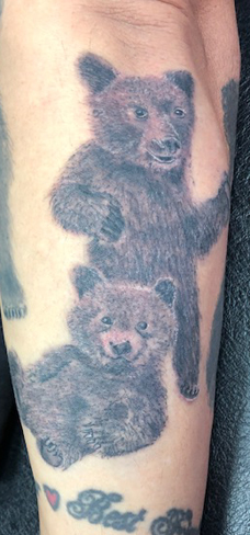Tattoo, Best Tattoo, Colchester, Essex, Tattoo art, Tattoo Artist, Tattoos, Tattoo design, Top Tattoo, Black & grey Tattoo, reds tattoo, sonya trusty, essex tattoo, colchester, realism tattoo, tattoo ideas, bear, bear cubs, cubs, bear tattoo, grizzly bear, grizzly, animal, animal tattoo