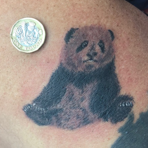Tattoo, Best Tattoo, Colchester, Essex, Tattoo art, Tattoo Artist, Tattoos, Tattoo design, Top Tattoo, Black & grey Tattoo, reds tattoo, sonya trusty, essex tattoo, colchester, realism tattoo, tattoo ideas, panda, panda tattoo, bear, small tattoo, realistic panda