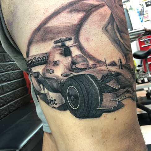 Tattoo, Best Tattoo, Colchester, Essex, Tattoo art, Tattoo Artist, Tattoos, Tattoo design, Top Tattoo, Black & grey Tattoo, reds tattoo, sonya trusty, essex tattoo, colchester, realism tattoo, tattoo ideas, f1, f1 tattoo, formula one, cars, car tattoo, racing