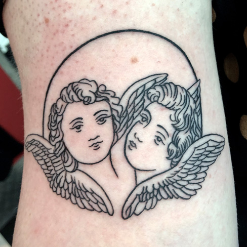 Tattoo, Best Tattoo, Colchester, Essex, Tattoo art, Tattoo Artist, Tattoos, Tattoo design, Top Tattoo, reds tattoo, anna kowacka, essex tattoo, colchester, tattoo ideas, linework, linework tattoo, outline, outline tattoo, cherub, cherub tattoo, angels, angel tattoo