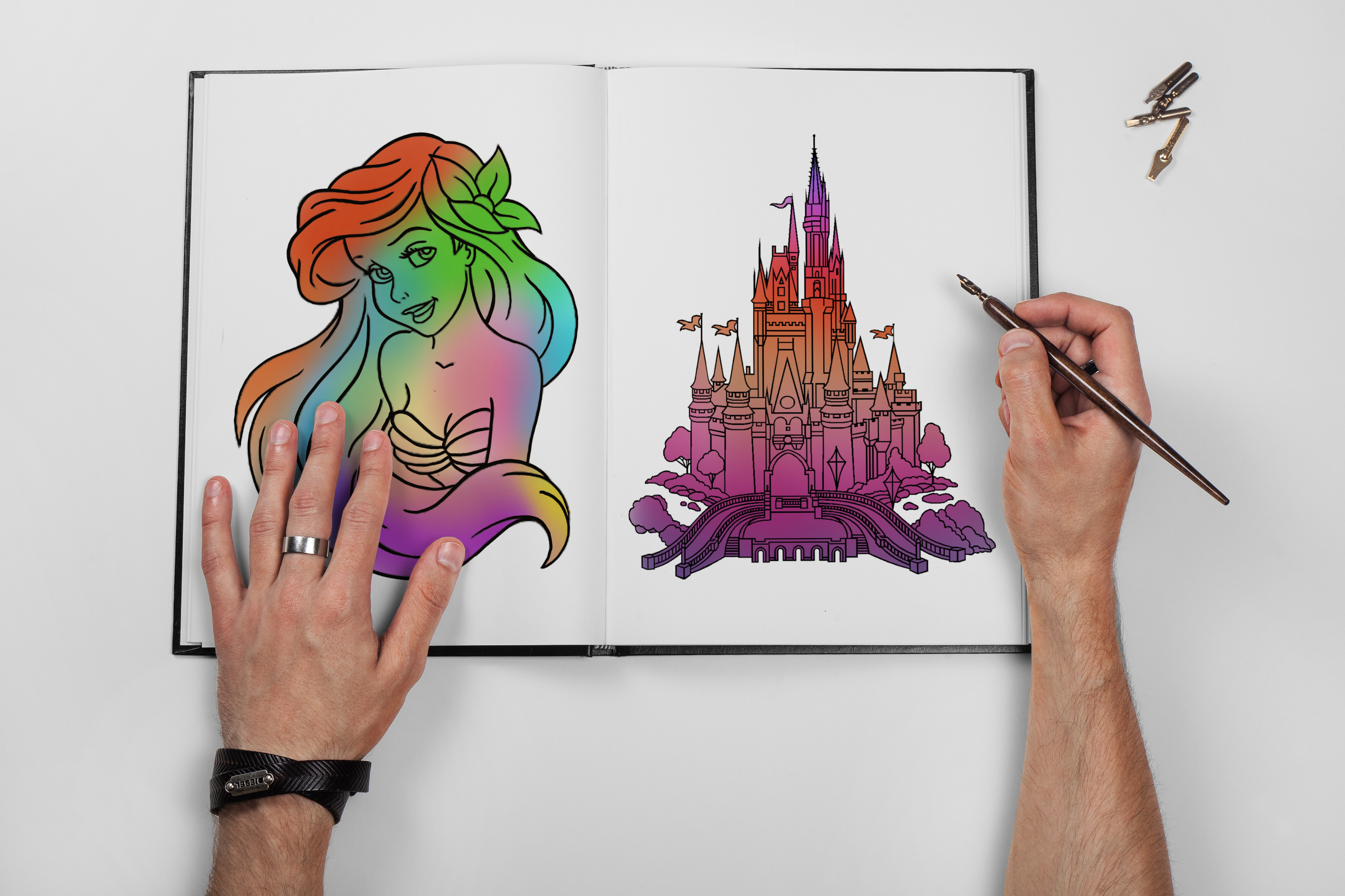 little mermaid watercolour disney castle tattoo idea sketch tattoo colchester essex reds tattoo sonya trusty ideas