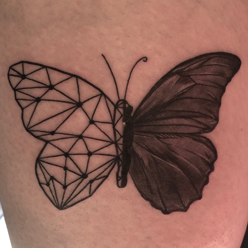 Tattoo, Best Tattoo, Colchester, Essex, Tattoo art, Tattoo Artist, Tattoos, Tattoo design, Top Tattoo, reds tattoo, anna kowacka, essex tattoo, colchester, tattoo ideas, geometric, geometric tattoo, butterfly, butterfly tattoo