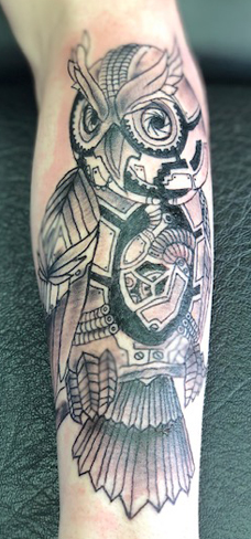Tattoo, Best Tattoo, Colchester, Essex, Tattoo art, Tattoo Artist, Tattoos, Tattoo design, Top Tattoo, Black & grey Tattoo, reds tattoo, sonya trusty, essex tattoo, colchester, realism tattoo, tattoo ideas, geometric, geometric tattoo, owl, owl tattoo, steampunk, gears