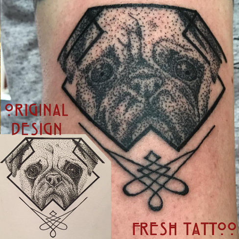 Tattoo, Best Tattoo, Colchester, Essex, Tattoo art, Tattoo Artist, Tattoos, Tattoo design, Top Tattoo, Black & grey Tattoo, reds tattoo, sonya trusty, essex tattoo, colchester, realism tattoo, pug, pug tattoo, dotwork, dotwork tattoo, geometric