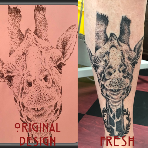dotwork, giraffe, Tattoo, Best Tattoo, Colchester, Essex, Tattoo art, Tattoo Artist, Tattoos, Tattoo design, Top Tattoo, Black & grey Tattoo, reds tattoo, sonya trusty, essex tattoo, colchester, realism tattoo