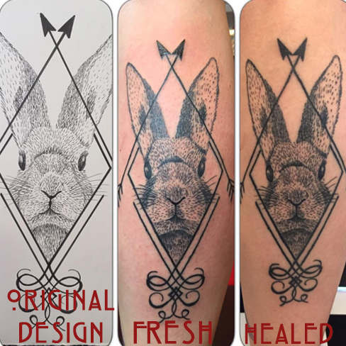 Tattoo, Best Tattoo, Colchester, Essex, Tattoo art, Tattoo Artist, Tattoos, Tattoo design, Top Tattoo, Black & grey Tattoo, reds tattoo, sonya trusty, essex tattoo, colchester, realism tattoo, bunny, rabbit tattoo, geometric, geometric tattoo