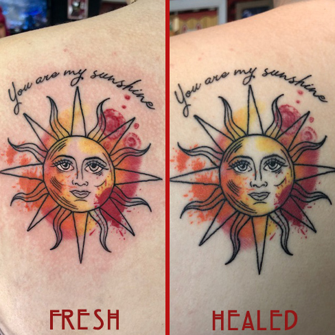 Tattoo, Best Tattoo, Colchester, Essex, Tattoo art, Tattoo Artist, Tattoos, Tattoo design, Top Tattoo, reds tattoo, anna kowacka, essex tattoo, colchester, tattoo ideas, watercolour, water colour, watercolour tattoo, sun tattoo, fresh tattoo, healed tattoo, fresh vs healed