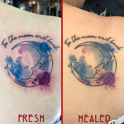 Tattoo, Best Tattoo, Colchester, Essex, Tattoo art, Tattoo Artist, Tattoos, Tattoo design, Top Tattoo, reds tattoo, anna kowacka, essex tattoo, colchester, tattoo ideas, watercolour, water colour, watercolour tattoo, moon tattoo, fresh tattoo, healed tattoo, fresh vs healed