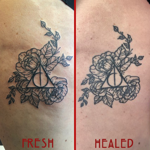 Tattoo, Best Tattoo, Colchester, Essex, Tattoo art, Tattoo Artist, Tattoos, Tattoo design, Top Tattoo, reds tattoo, anna kowacka, essex tattoo, colchester, tattoo ideas, linework, linework tattoo, outline, outline tattoo, harry potter, harry potter tattoo, always