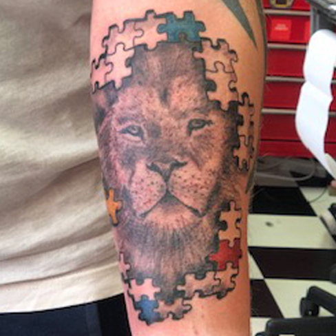 Tattoo, Best Tattoo, Colchester, Essex, Tattoo art, Tattoo Artist, Tattoos, Tattoo design, Top Tattoo, Colour Tattoo, reds tattoo, sonya trusty, essex tattoo, colchester, tattoo ideas, lion, lion tattoo, puzzle, puzzle pieces, puzzle tattoo, animal, realistic lion