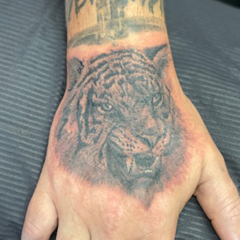 Tattoo, Best Tattoo, Colchester, Essex, Tattoo art, Tattoo Artist, Tattoos, Tattoo design, Top Tattoo, Black & grey Tattoo, reds tattoo, sonya trusty, essex tattoo, colchester, realism tattoo, tattoo ideas, tiger, tiger tattoo, animal, animal tattoo, hand, hand tattoo, walking dead
