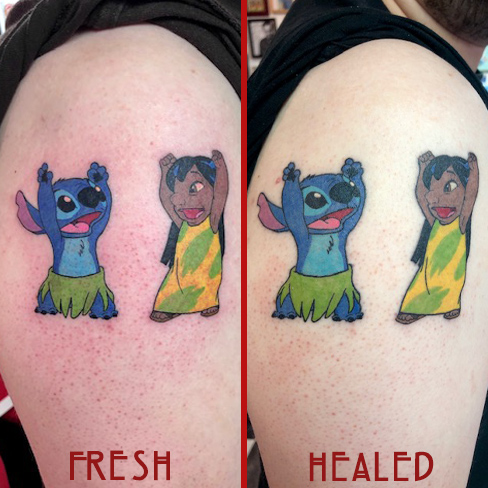 Tattoo, Best Tattoo, Colchester, Essex, Tattoo art, Tattoo Artist, Tattoos, Tattoo design, Top Tattoo, reds tattoo, anna kowacka, essex tattoo, colchester, tattoo ideas, lilo and stitch, lilo and stitch tattoo, stitch tattoo, disney tattoo, fresh tattoo, healed tattoo, fresh vs healed